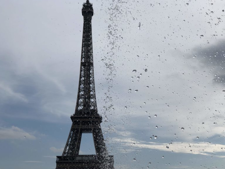 Eiffel Tower and water drops