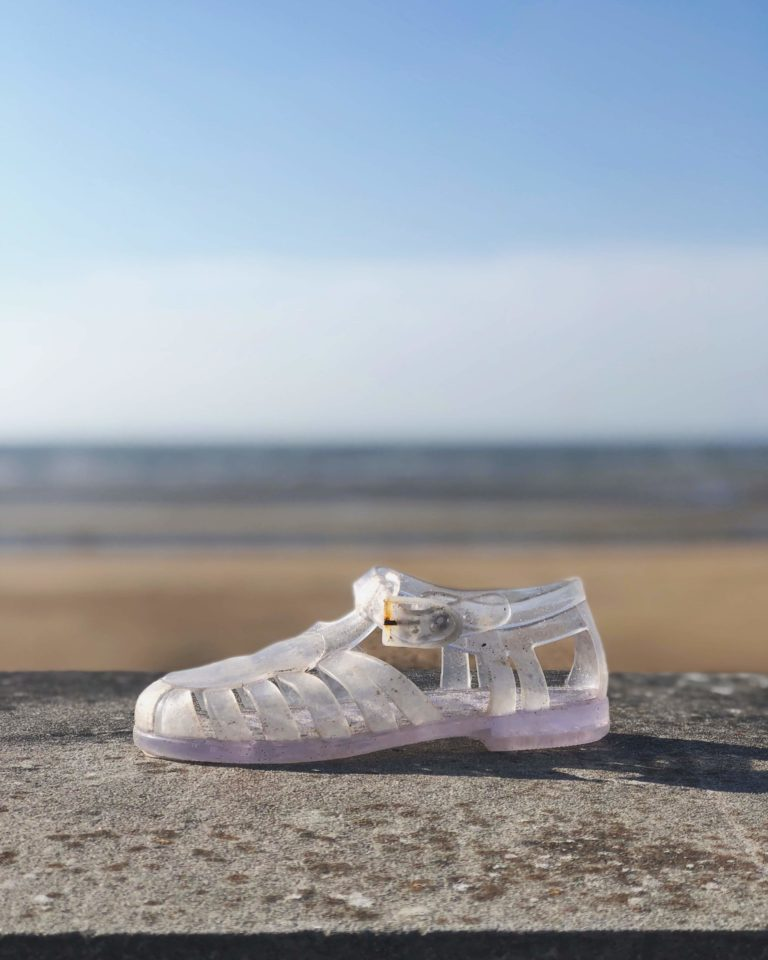shoe at the beach in normandie