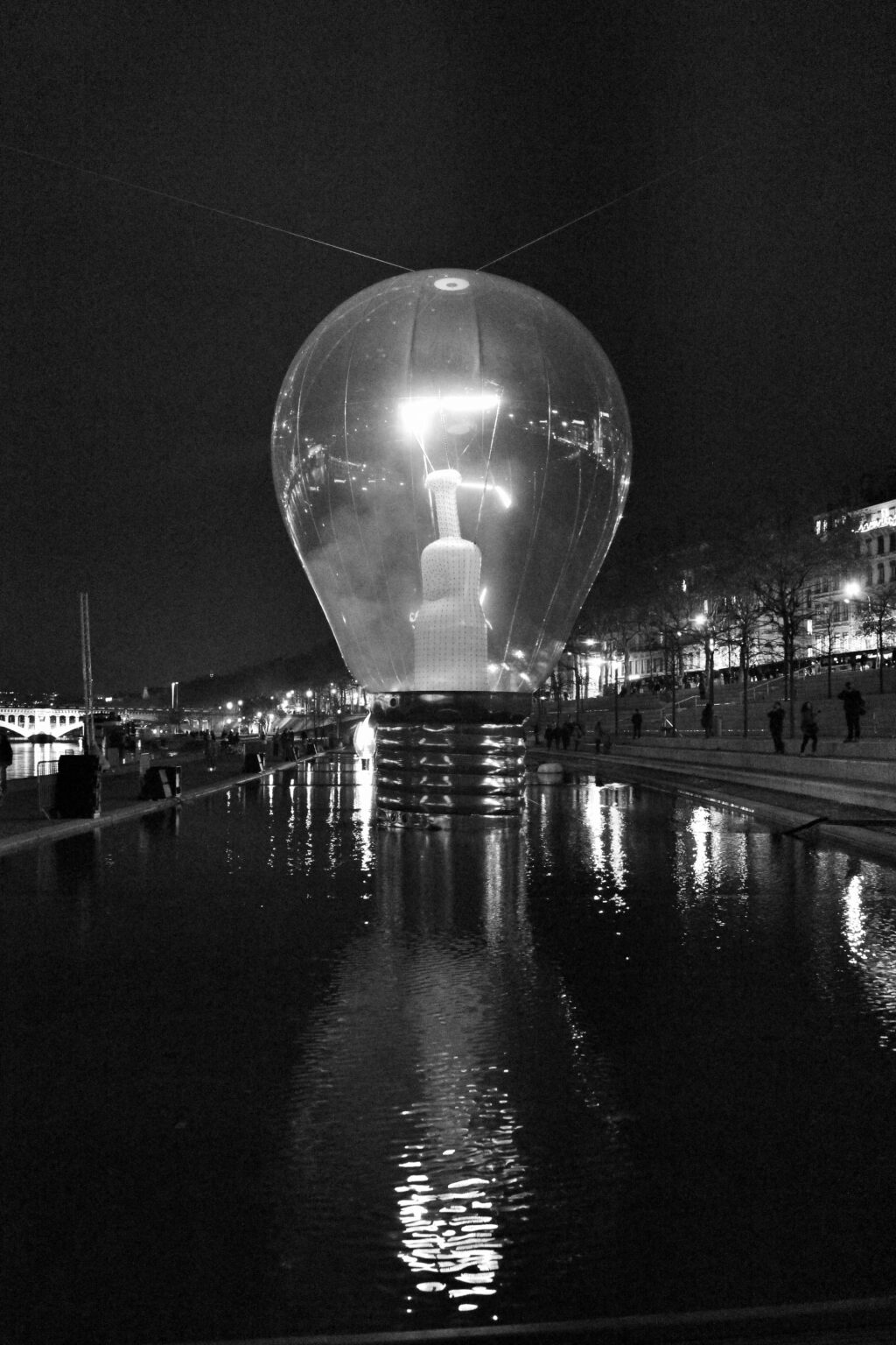 Fete des Lumieres Lyon 2014 Black and white light and reflections